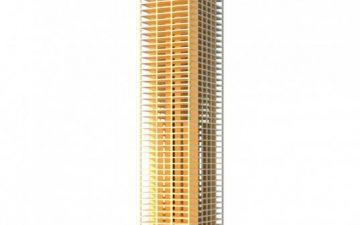 Деревянный небоскреб от SOM поможет сократить углеродный след при строительстве высоток на 75%