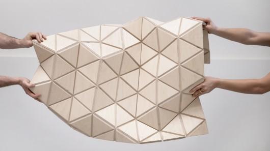 WoodSkin: новый материал, который принимает любые абстрактные формы
