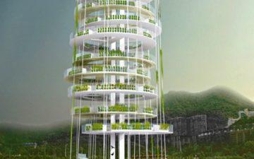 Новый проект динамической вертикальной фермы для выращивания продуктов в Китае