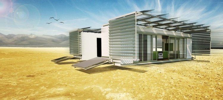 Микро-дом DALE с нулевыми выбросами может быть расширен до нужного пространства