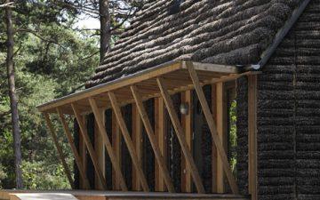 Современный дом отдыха в Дании построен с использованием водорослей
