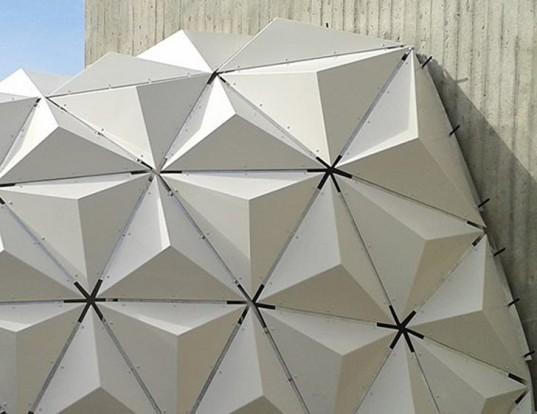 Ученые построили новый павильон из 388-ми биопластиковых пирамид