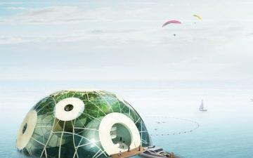 Плавающая ферма поглощает СО2 и следит за повышением уровня моря