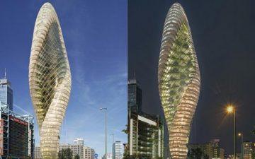 Новый небоскреб со спиральным вертикальным садом для Берлина