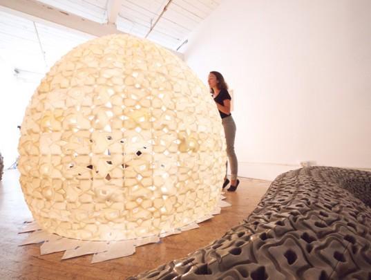 Светящийся павильон напечатан на 3D-принтере из морской соли
