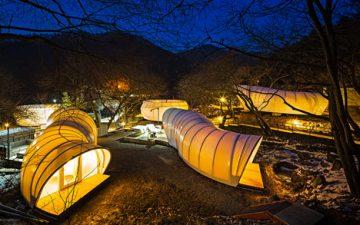 Гламурные надувные палатки для глэмпинга в Южной Корее