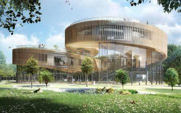 Современный экологический район построен в центре китайского города