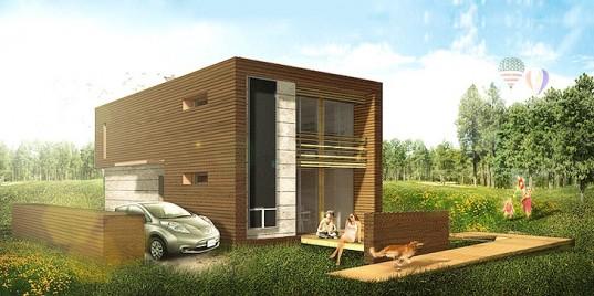 Модульные дома с солнцезащитным каркасом для Solar Decathlon Europe 2014
