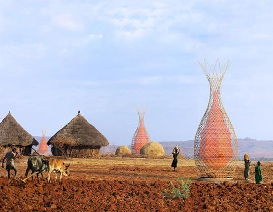 Башни WarkaWater от Артуро Виттори будут собирать питьевую воду в Эфиопии
