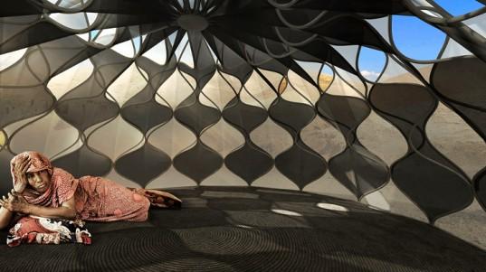 Инновационные плетеные палатки для беженцев – красивые и технологичные