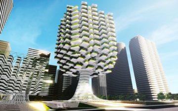Концепция городского небоскреба-фермы обеспечит жителей города своей сельхозпродукцией