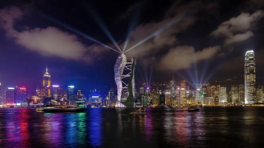 Студия СТС представила концепцию двойных небоскребов с террасами для Гонконга
