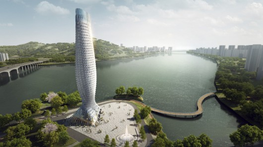 Компания RMJM разрабатывает для Китая новый небоскреб с блестящим алюминиевым фасадом