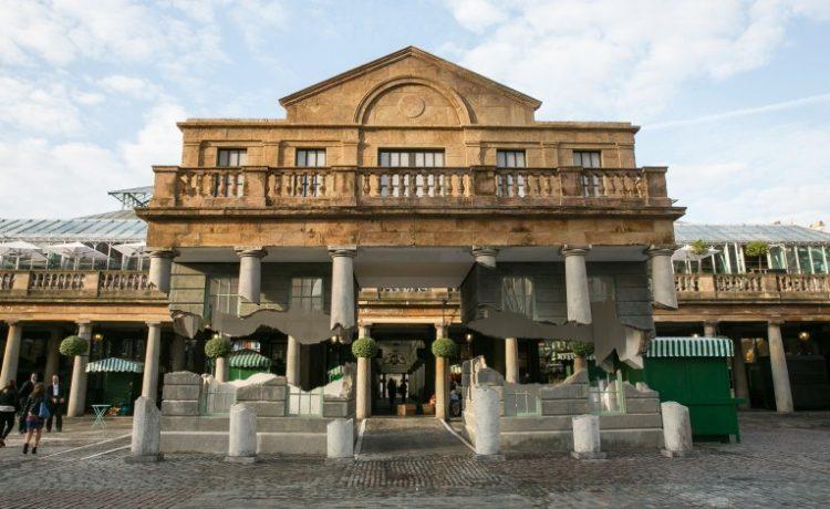 В лондонском Ковент-Гардене  построено здание, парящее над землей