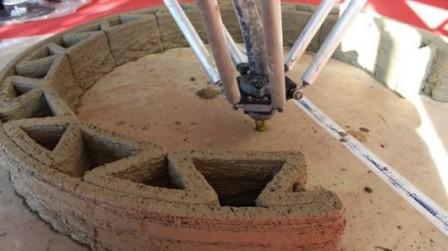 Итальянская компания разрабатывает 3D-принтер для строительства домов из глинистого раствора