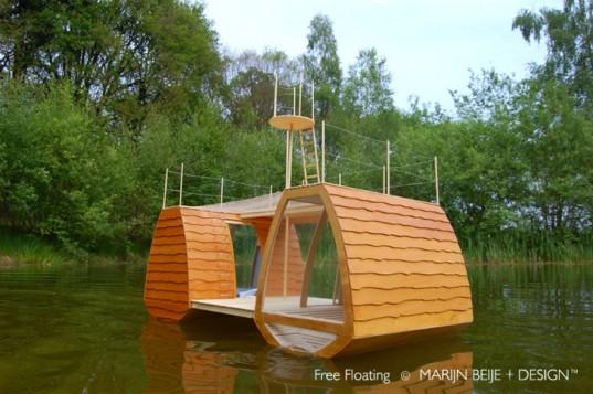В Нидерландах появился плавающий катамаран для спокойного отдыха на природе