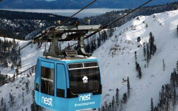 Компания Nest предлагает отдых в «домике в небе», установленном внутри горнолыжной гондолы