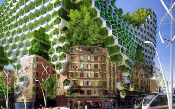 Архитектор из Бельгии предложил футуристический план по озеленению Парижа