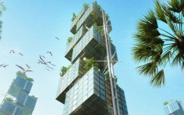 Новый модульный небоскреб от Weingartner Architect