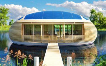 Новый плавающий эко-дом от компании EcoFloLife