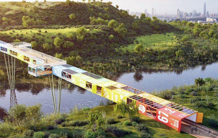 В Национальном парке Тель-Авива будет построен мост из переработанных морских контейнеров