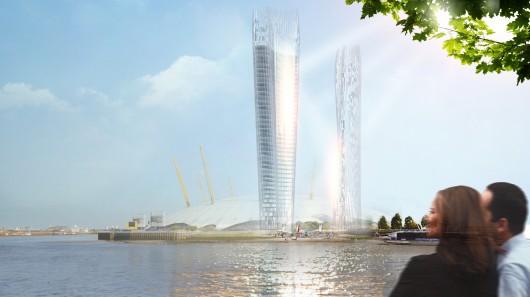 Архитекторы NBBJ разработали небоскреб, помогающий освещать улицы отраженным светом