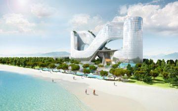 В Пченчхане будет построен отель для туристов в виде горок для слалома