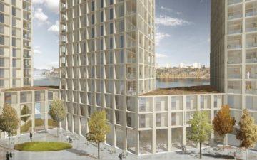 Новые деревянные жилые небоскребы будут построены в Стокгольме