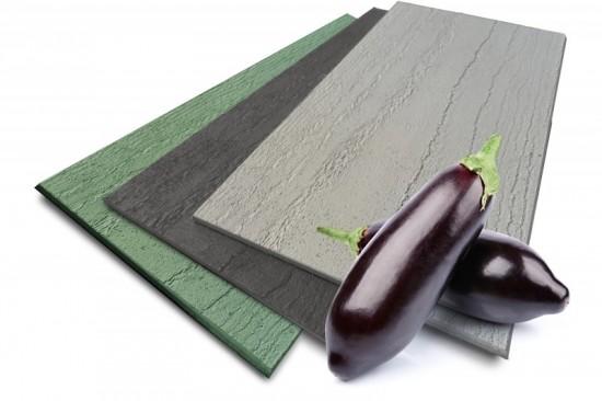 Ceranex: новые облицовочные панели, изготовленные из баклажанов и травы