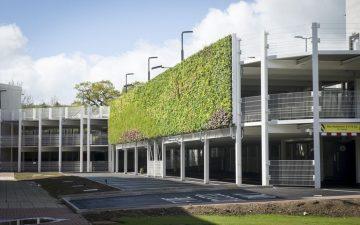 На фасаде многоэтажной парковки в Великобритании построена самая большая в Европе «живая стена»
