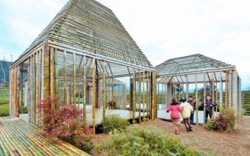 «Плавающие» бамбуковые павильоны появились в Китае всего за 8 недель