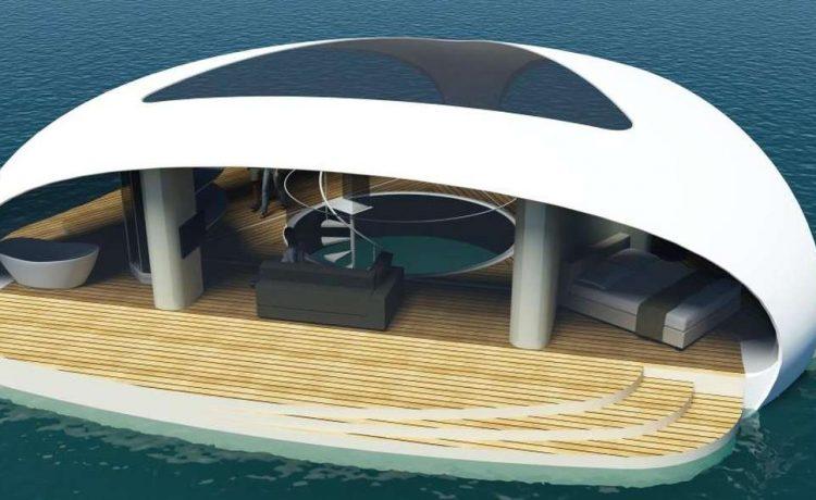 Новая концепция плавающей виллы SeaScape: вы сможете спать рядом с морскими обитателями