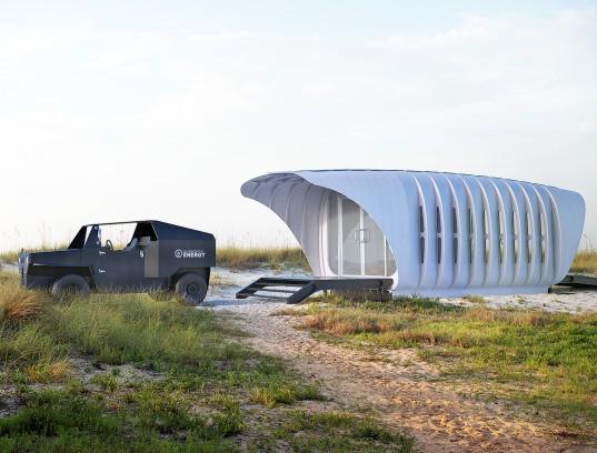Новый самодостаточный комплекс из 3D-печатного здания и автомобиля