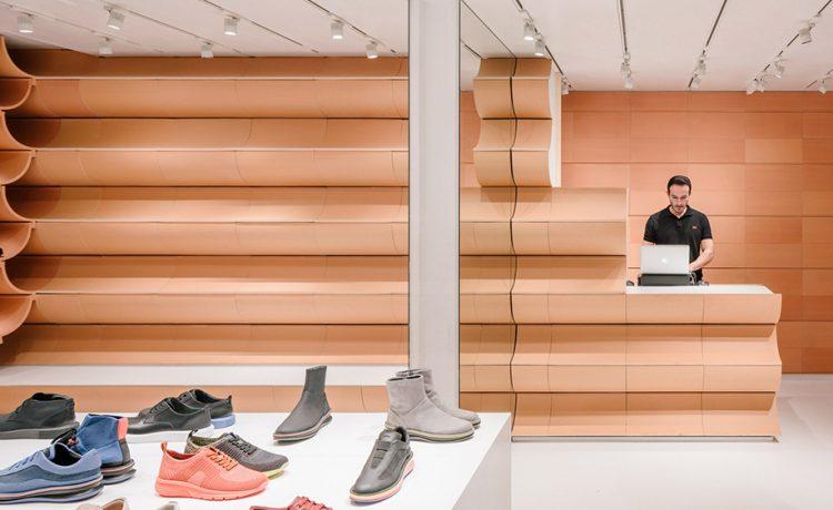 Новые керамические полки от Кенго Кума для магазина Camper в Барселоне