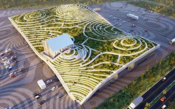 Рынок, на котором будут выращивать фрукты и овощи на крыше.