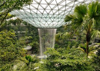 Новый аэропорт в Сингапуре похвастается самым большим крытым водопадом в мире