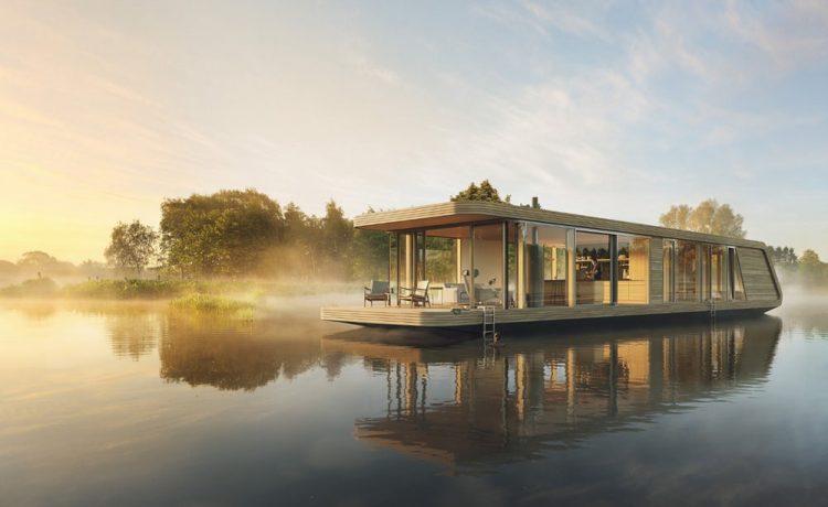 Шикарные плавающие дома Naturecruiser и Waterloft на солнечных батареях