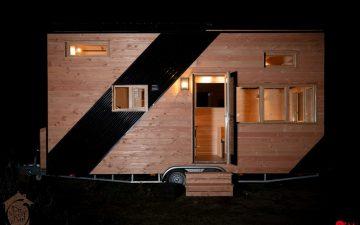 Optinid представляет мини-дом на колесах, который имеет раздвижную крышу и «теплые» полы
