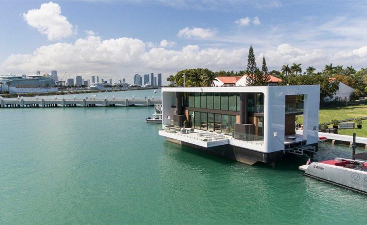 Стильный плавающий дом устойчивый к наводнениям и ураганам