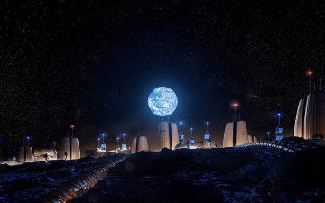 Представлен проект первой в мире Лунной деревни.