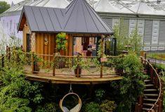 Роскошный сборный дом на дереве представлен на выставке в Челси