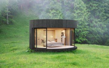Крошечная кабинка с панорамным обзором для релаксации и хорошего настроения