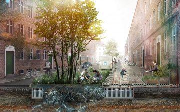 Тротуарная плитка, которая поглощает дождевую воду для повторного использования