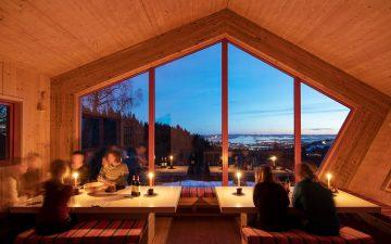 Snøhetta представляет пятиугольный домик для отдыха с видом на Ослофьорд