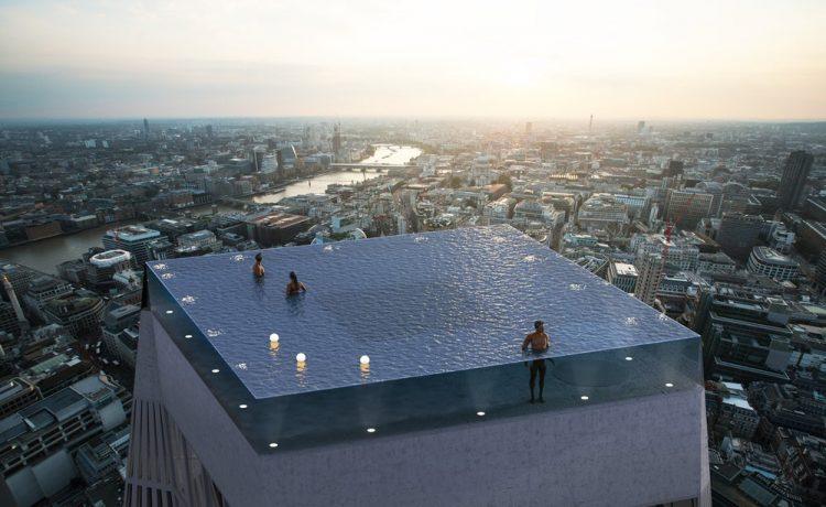Первый в мире «бесконечный» бассейн появится на крыше небоскреба в Лондоне