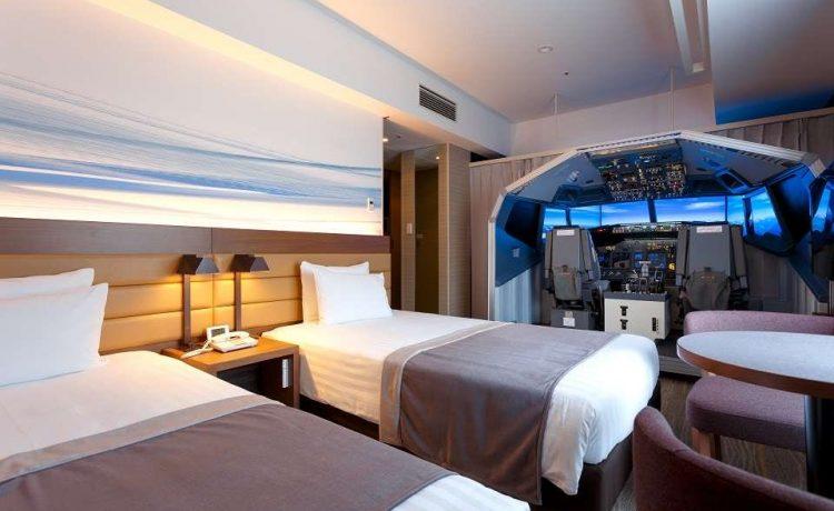 Японский отель открыл новый номер люкс с коммерческим авиа-симулятором