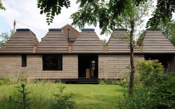 Cork House - модульный и пригодный для повторного использования дом построен из пробки