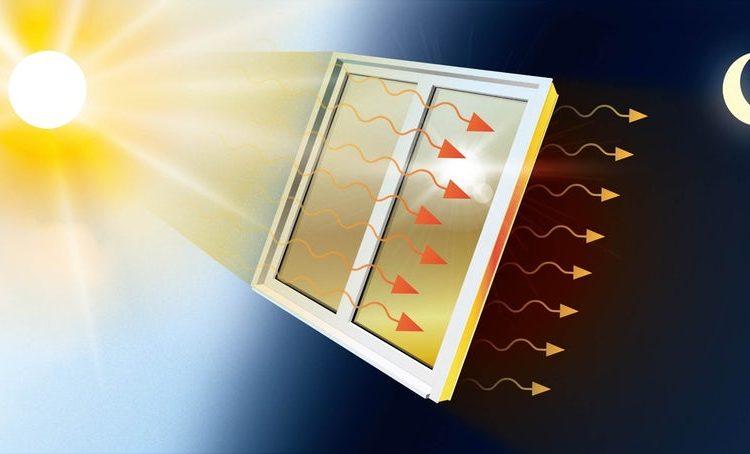 Прозрачная оконная пленка, которая может регулировать температуру в помещении