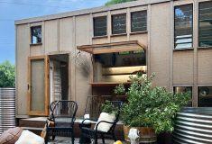 Потрясающий крошечный дом в стиле бохо с баром под открытым небом