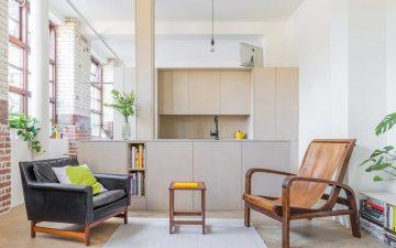 Британские архитекторы использовали готовые контейнеры вместо стен в квартире